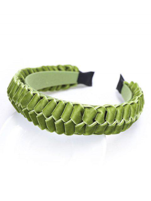 Trenza de Velour Hairband - Verde  Mobile