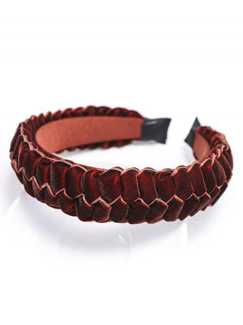 Trenza de Velour Hairband - Rojo  Mobile