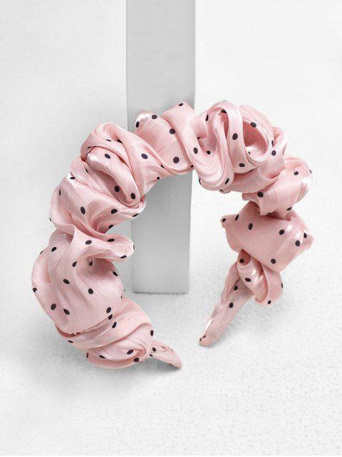Принт в горошек Головная Повязка - Розовый  Mobile