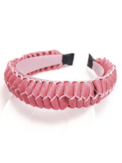 Trenza de Velour Hairband - Rosado  Mobile