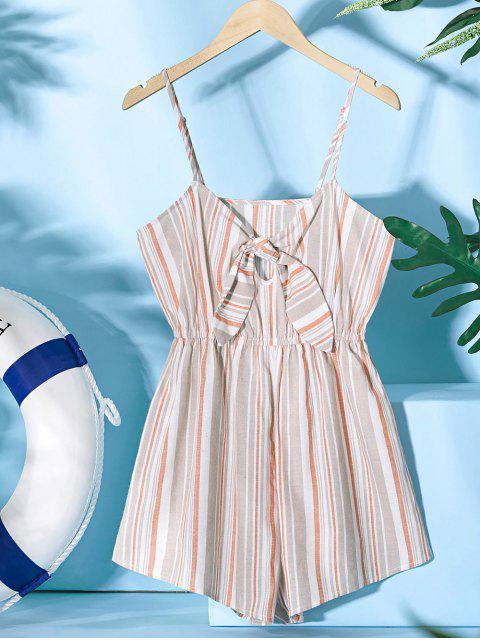 ZAFUL Mono Corto de Tirante Fino con Nudo a Rayas - Color de Madera XL Mobile