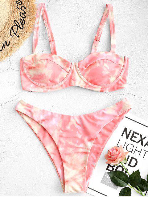ZAFUL Maillot de Bain Bikini Teinté à Jambe Haute à Armature - Multi-A L Mobile