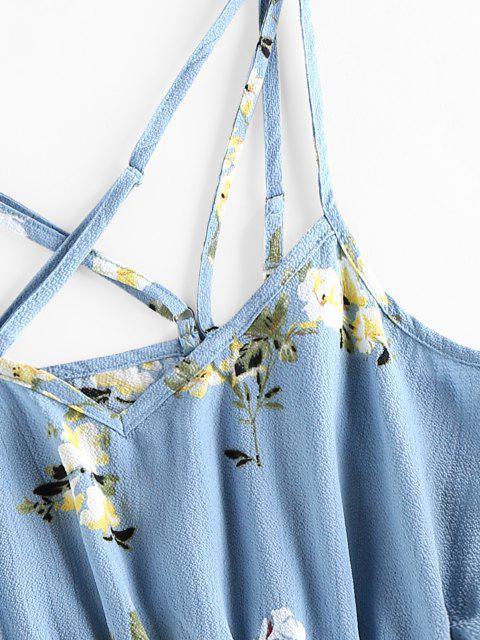 ZAFUL Blumen Kreuzer und Querer Eingesperrte Strampler - Helles Himmelblau S Mobile