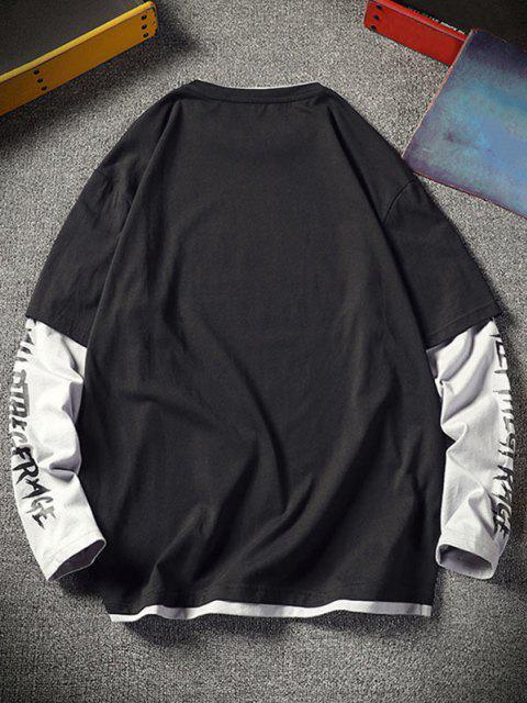 Camisola Masculina de Cordão com Letra - Preto L Mobile