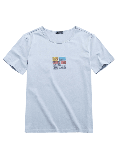 ZAFUL Graphic Print Short Sleeves T-shirt