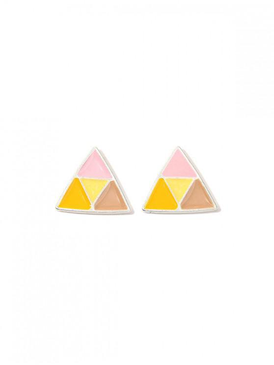 best Colorblock Triangle Stud Earrings - MULTI
