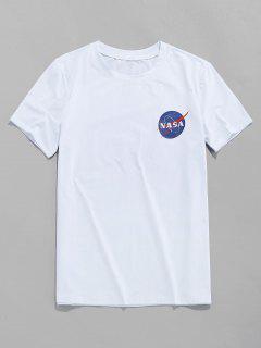 ZAFUL Buchstabedruck T-Shirt Mit Kurzen Ärmeln - Weiß M