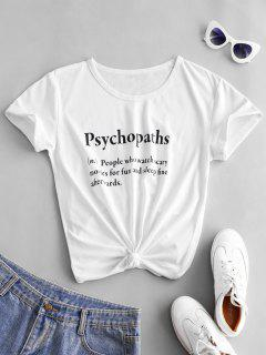 T-shirtLettreàManchesCourtes - Blanc M