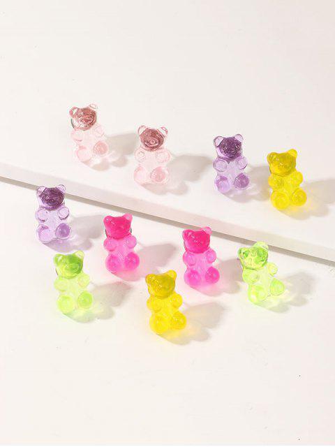Conjunto de Pendientes de Oso Transparente - Multicolor  Mobile