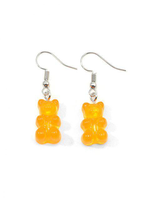 Форма медведя Прозрачные Серьги - Оранжевый   Mobile