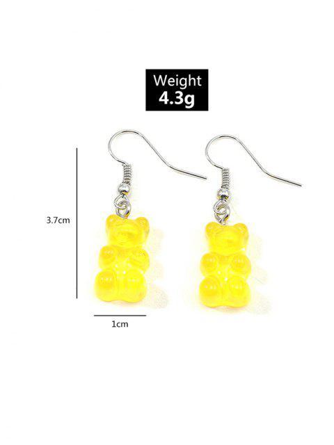Pendientes de Gota de Oso Transparente - Amarillo  Mobile