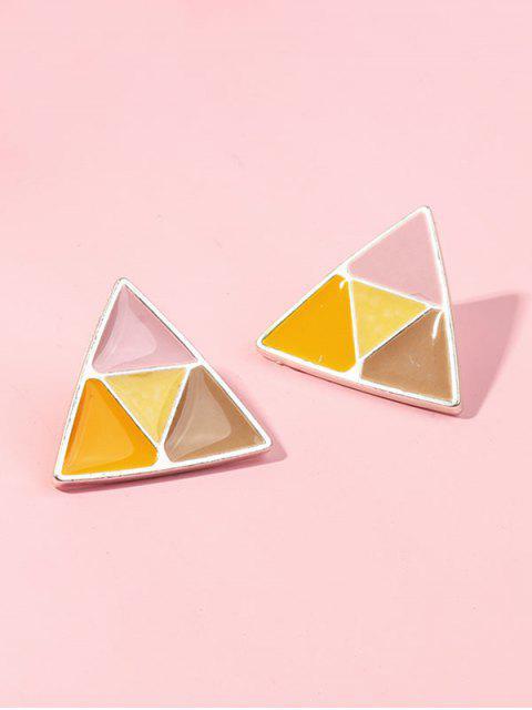 Цветной блок Треугольник Серьги - Многоцветный  Mobile
