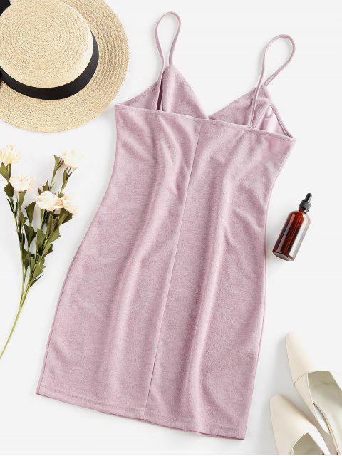 ZAFUL Vestido Cami - Rosa Rosada XL Mobile