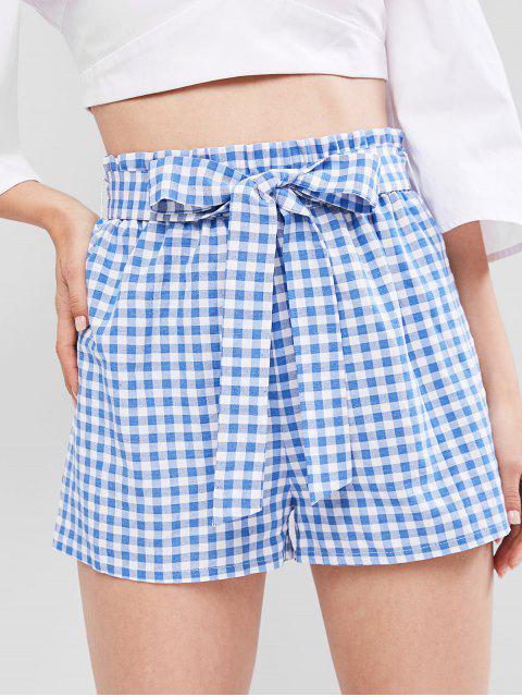 ZAFUL Shorts de Pierna Ancha a Cuadros - Multicolor-B XL Mobile