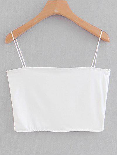 Spaghetti Strap Cropped Top - White S