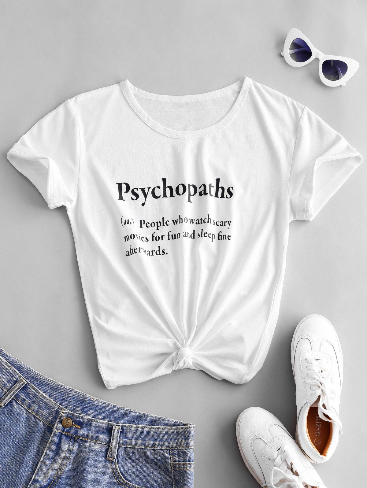 Psychopaths Definition Short Sleeve T-shirt