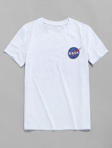 Letter Print Leisure T shirt