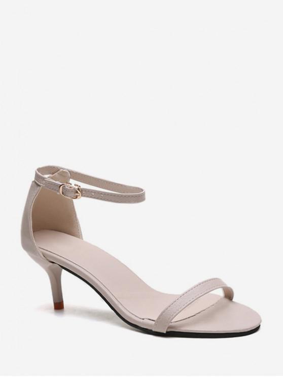shops One Strap Low Heel Ankle Strap Sandals - APRICOT EU 38