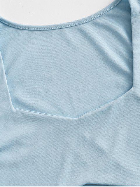 Regatas Cortado Sólida com Amarra Sólido - Azul M Mobile
