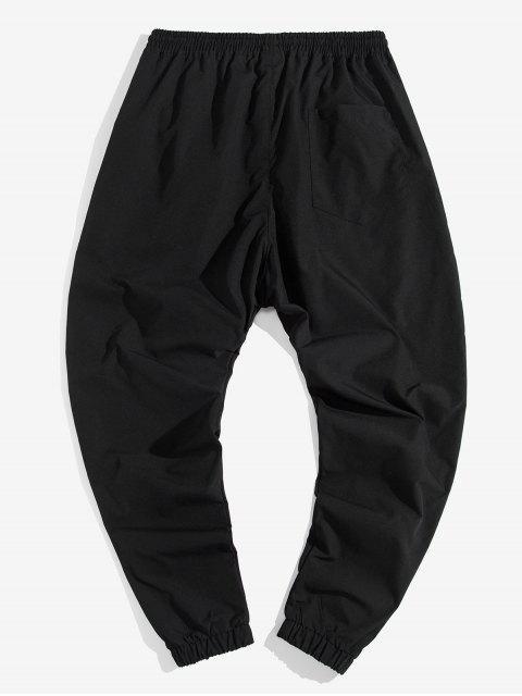 Pantalones Trotar Casuales Estampado Letras - Negro L Mobile