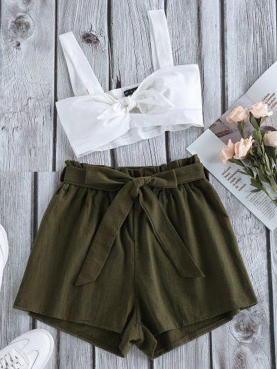 ZAFUL Knot Belt Two Piece Set - Army Green M