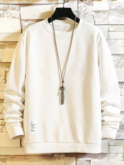 Sweatshirt mit Buchstabendruck und Rundhalsausschnitt - Weiß S Mobile