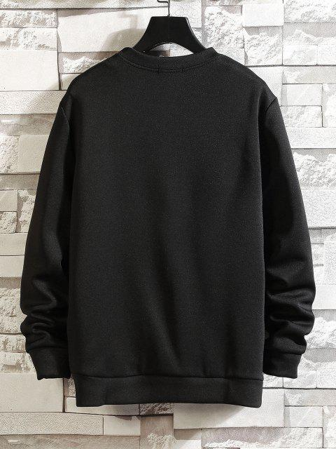 buy Fire Dinosaur Drawing Print Sweatshirt - BLACK XS Mobile