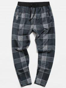 Plaid Print Casual Pants