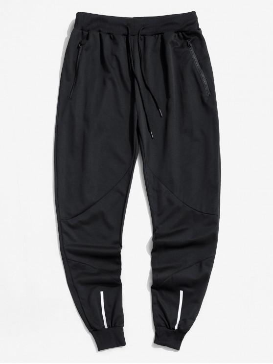 shop Casual Elastic Waist Drawstring Jogger Pants - BLACK XL