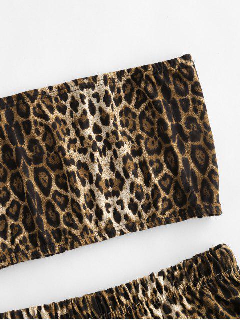 ZAFUL Zweiteiliges Schlange Leopard Bandeau Top Set - Leopard S Mobile