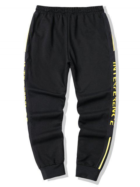 Pantalones de Jogger con Cordón y Estampado Gráfico - Amarillo XL Mobile