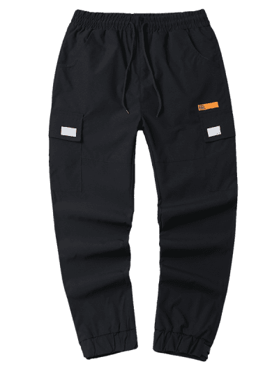 Drawstring Flap Pocket Cargo Jogger Pants