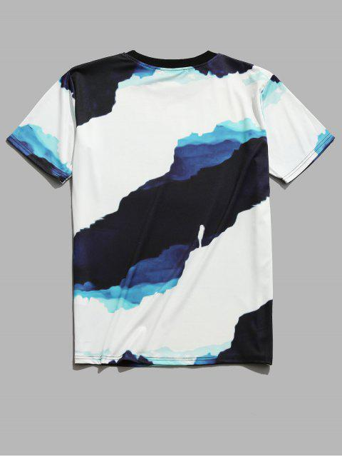 fashion Casual Painting Printed Short Sleeves T-shirt - WHITE M Mobile