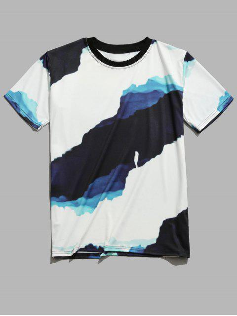 unique Casual Painting Printed Short Sleeves T-shirt - WHITE 2XL Mobile