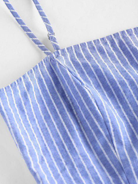 ZAFUL Conjunto de Mini Saia Listrada de Bodycon - Céu Azul M Mobile