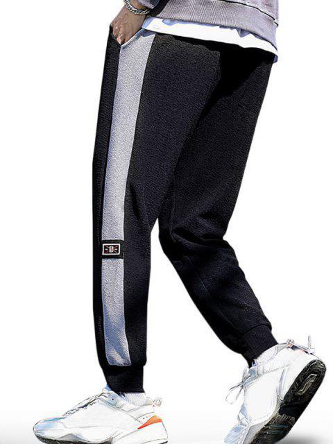 Joggers de Bloqueo de Color con Cordón - Negro XS Mobile