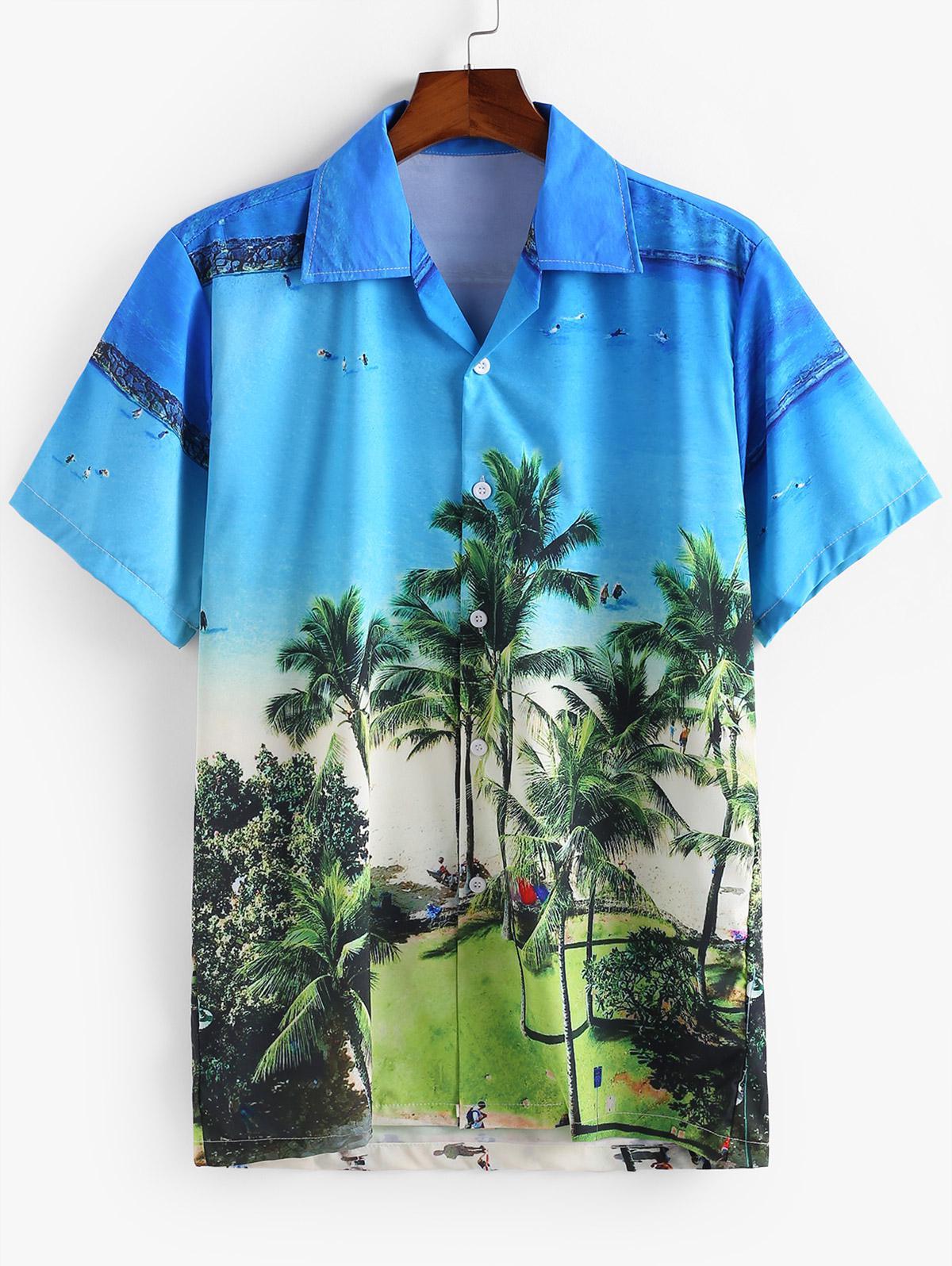 Plant Printed Casual Button Shirt thumbnail