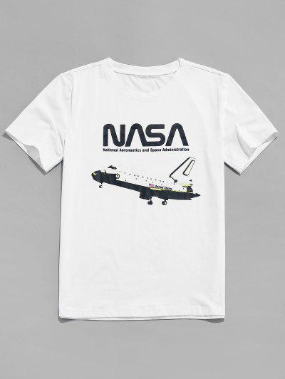 ZAFUL Camiseta Con Estampado De Bandera De Estados Unidos - Blanco S