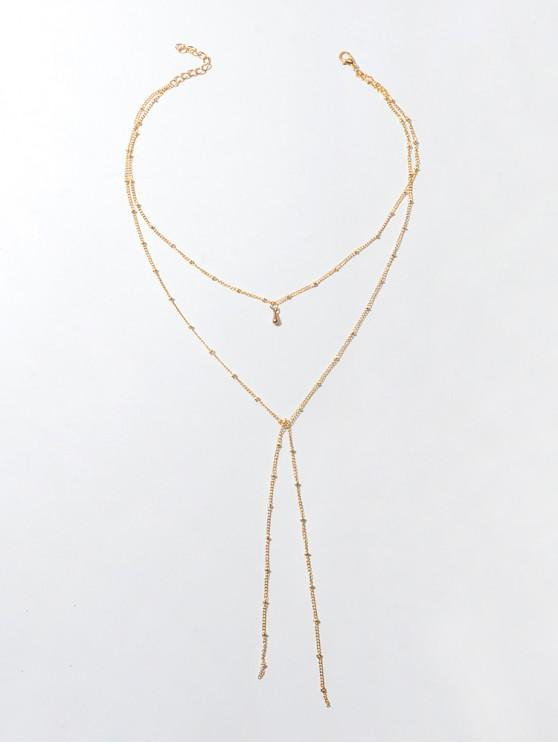affordable Brief Layered Chain Necklace - GOLD
