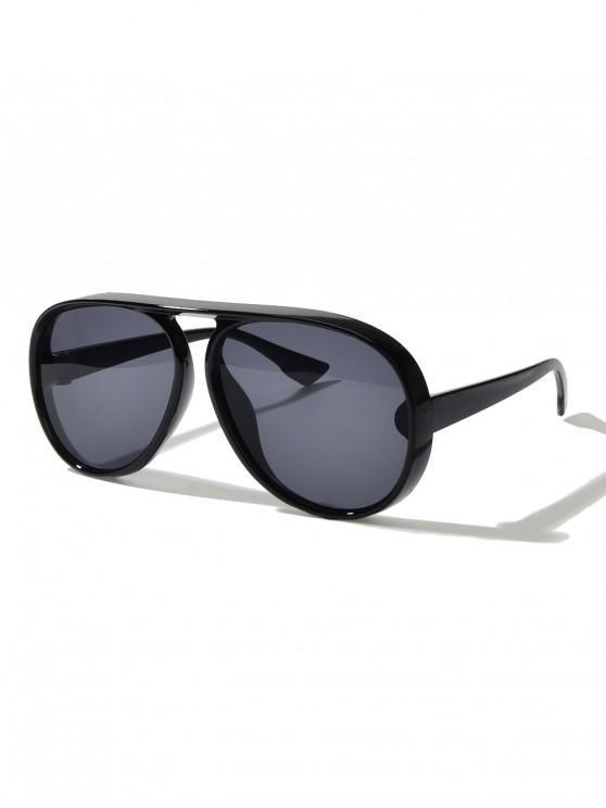 Gafas de Sol Estilo Piloto Marco Metálico Piernas Delgadas Anti Rayos UV - Negro
