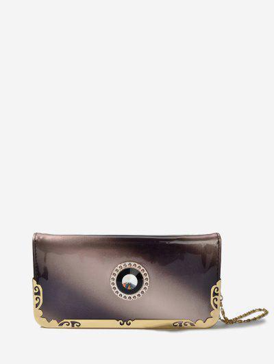 Chain Zip Ombre Clutch Bag