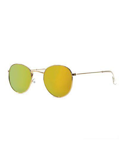 Retro Metal Gradient Sunglasses - Tiger Orange