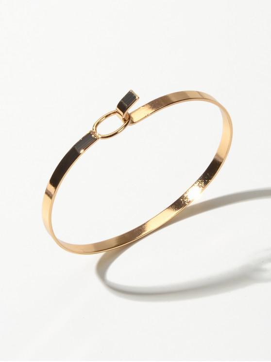 Minimalista bracciale Bangle Lega - Oro