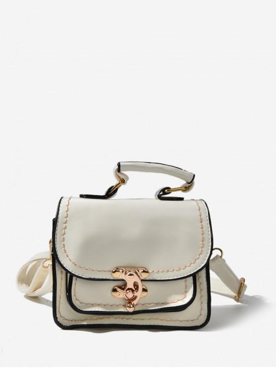 outfits Retro Cover Mini Crossbody Bag - BEIGE