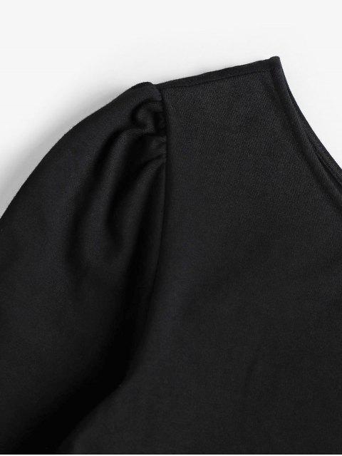 ZAFUL T-shirt Court Noué à Une Epaule - Noir XL Mobile