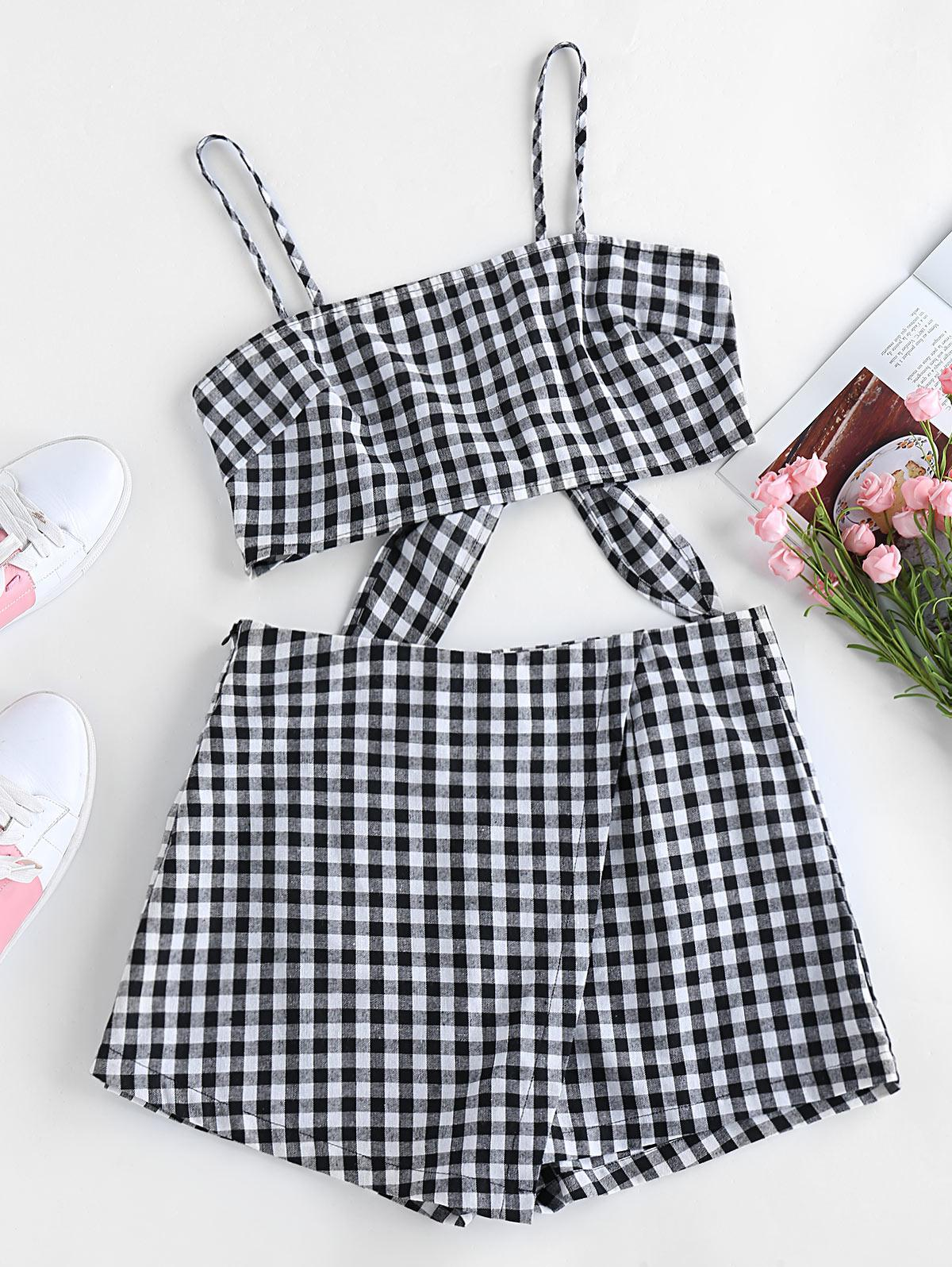 ZAFUL Checked Co Ord Set
