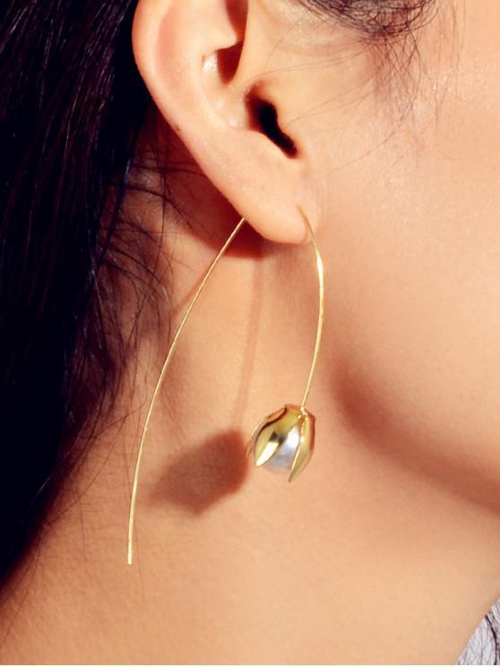 Diseño floral artificial de la perla - Oro