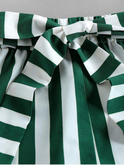 Pantaloncini di ZAFUL a Righe con Cintura - Verde Trifoglio S Mobile