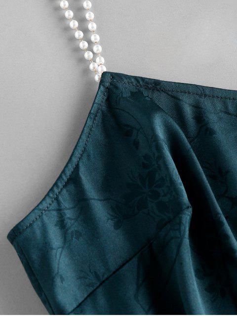 ZAFUL Vestido de Tirante Fino de Perlas de Imitación de Fiesta - Verde de Tortuga Marina XL Mobile