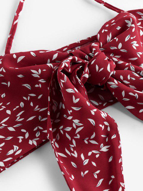 Top con Halter e Pantaloncini Floreali di ZAFUL - Vino Rosso S Mobile